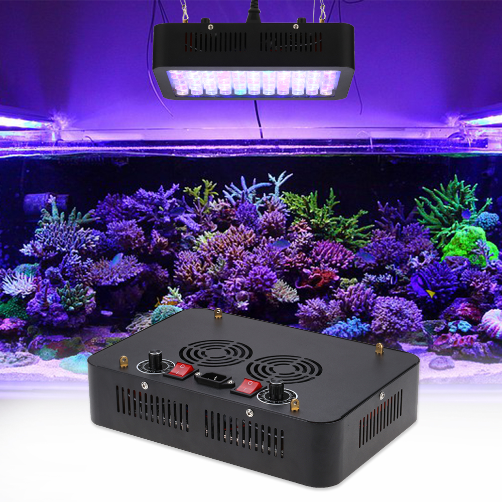 Fish aquarium lighting systems - Hot 165w Dimmable Led Aquarium Light Fish Tank System For Warehouse And Quarim Tank Dropshipping Ac85