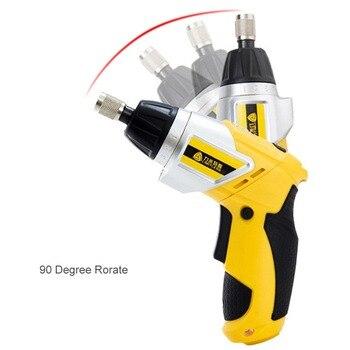 3.6 V batería de litio recargable destornillador eléctrico kit 90 grados hogar taladro eléctrico herramientas eléctricas
