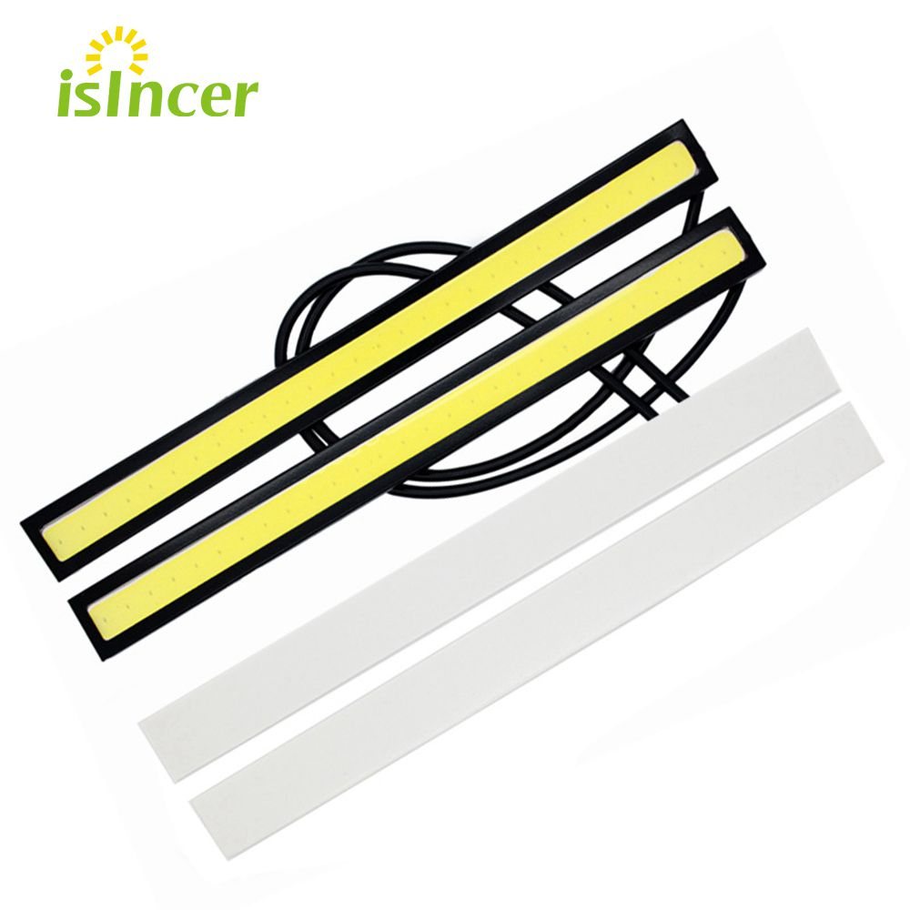 car styling 1 piece update Ultra Bright LED Daytime Running lights 17cm Waterproof Auto Car DRL COB Driving Fog lamp for bmw kia hot 6w auto drl daytime driving running light waterproof cob chip led car styling daylight paking fog bar lamp 17cm 1pc