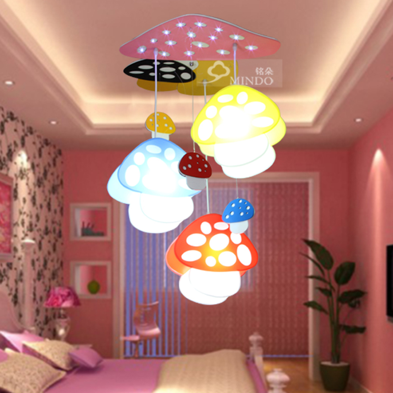 Children lamp Led cartoon Pendant Lights mushroom light bedroom kindergarten children in activities dome pendant lamps ET30 led suction dome light fashion cartoon study bedroom children s room lights