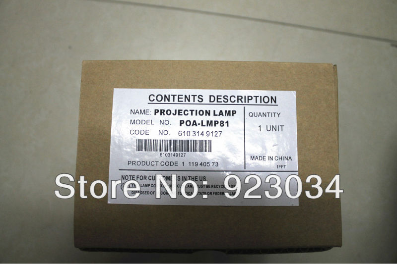 projector lamp  POA-LMP81  for  SANYO PLC-XP51 XP5100C XP51L XP56