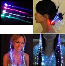 free shipping 100pcs/lot  New 2016 Flash LED Hair Women Girl Braid Clip Butterfly Hairpin Decor For Party Dance Gift