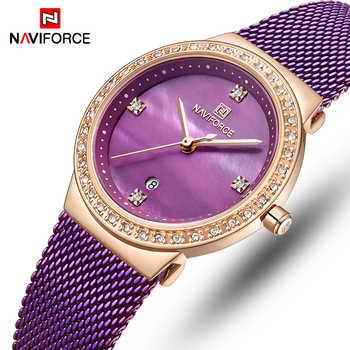NAVIFORCE Women Watch Top Luxury Brand Fashion Dress Quartz Ladies Watches Stainless Steel Date Female Clock Relogio Feminino - DISCOUNT ITEM  50 OFF Watches