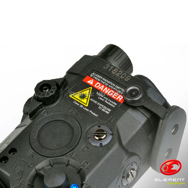 Element LA-PEQ 15 LED light with Red Laser and IR Fits for Airsoft Tactical Military Standard(EX 276)