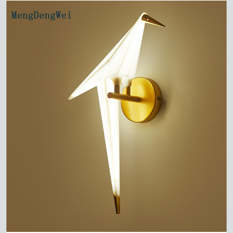 Здесь продается  Modern simple colorful birds LED wall lamp creative wall light living room bedroom bar restaurant hotel indoor lighting fixture  Свет и освещение