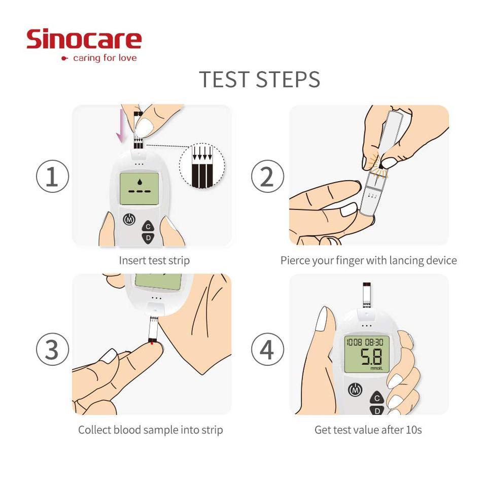 equipo de medición de diabetes