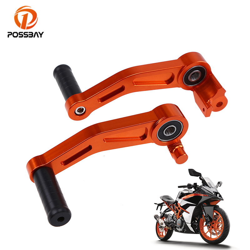 POSSBAY Orange CNC Aluminium moto frein embrayage levier de pédale de vitesse pour KTM DUKE 125 200 390 2013 2014 2015 2016 2017
