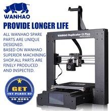 Лучшие Продажи Простота В Эксплуатации Wanhao 3d-принтер Дубликатор I3 ПЛЮС Стальная Рама Рабочий Стол 3D Печатная Машина Бесплатный SD Карты Материал