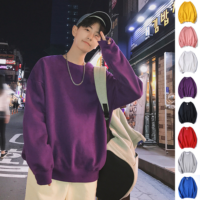 Streetwear Solid Hoodies Sweatshirts Men Oversized Hip Hop Spring Autumn Casual Male Sweatshirts Outwear
