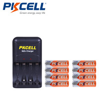 8Pcs/2Pack PKCELL NIZN AA Rechargeable Batteries NI Zn 1.6V Volt 2500mWh AA Batteries +1Pcs AA/AAA NiZn Battery Charger