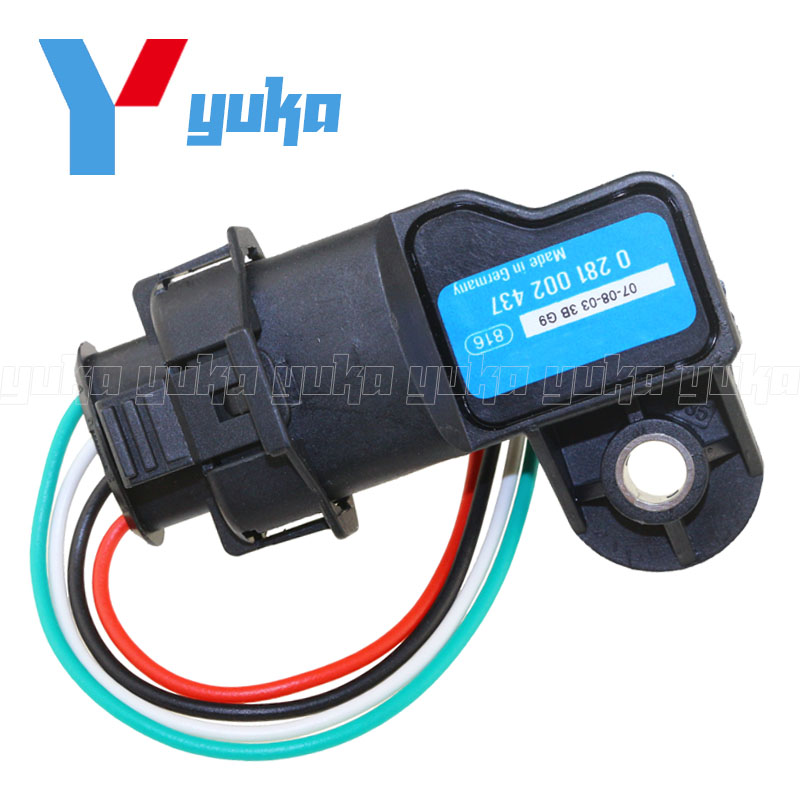 Boost MAP Sensor For Vauxhall Vectra Signum Zafira Astra Frontera 0281002437 93171176 24459853 0 281 002 437 W/ Plug Connector