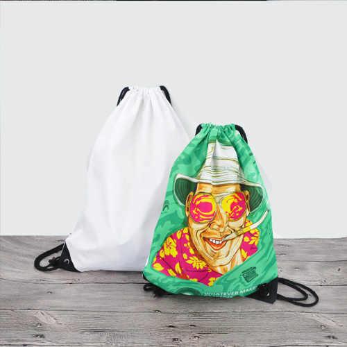 10 cái bán buôn Thăng Hoa diy Rơm túi escolar trống in ba lô ba lô du lịch softback người đàn ông phụ nữ mochila feminina dây rút