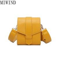 MIWIND 2017 Vàng Bag Phụ Nữ Messenger Túi Dây Đeo Rộng Thiết Kế Thương Hiệu Crossbody Nhỏ Flap Bag Dành Cho phụ nữ TXY995