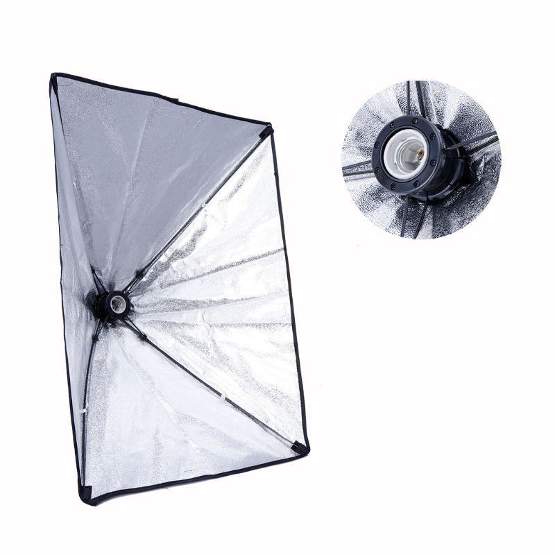 50x70cm Studio Light Photography Softbox Umbrella Fr 4 Socket E27 Lamp Bulb Head