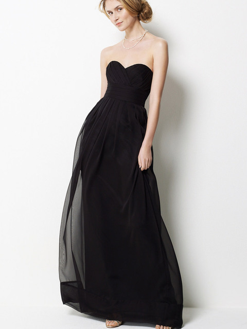 Vestido negro sin tirantes