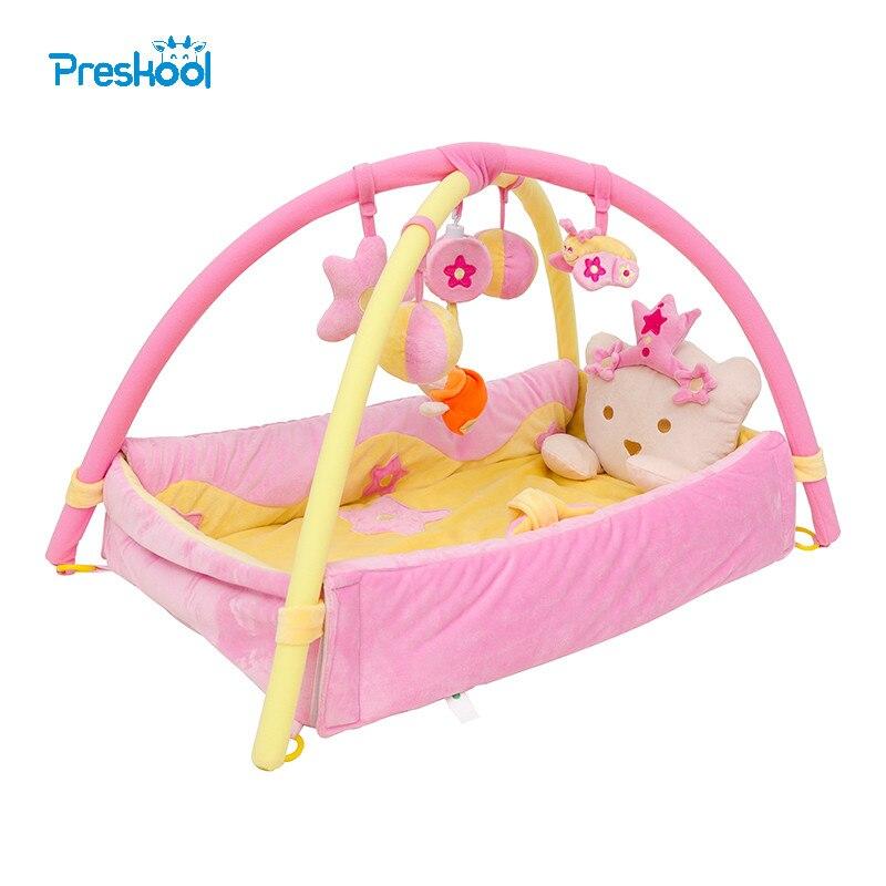 Preskool bébé jouet pour enfants jouer tapis activité Gym jouer Gym Playmats enfants jouet Gymini Playmat avec 5 jouets