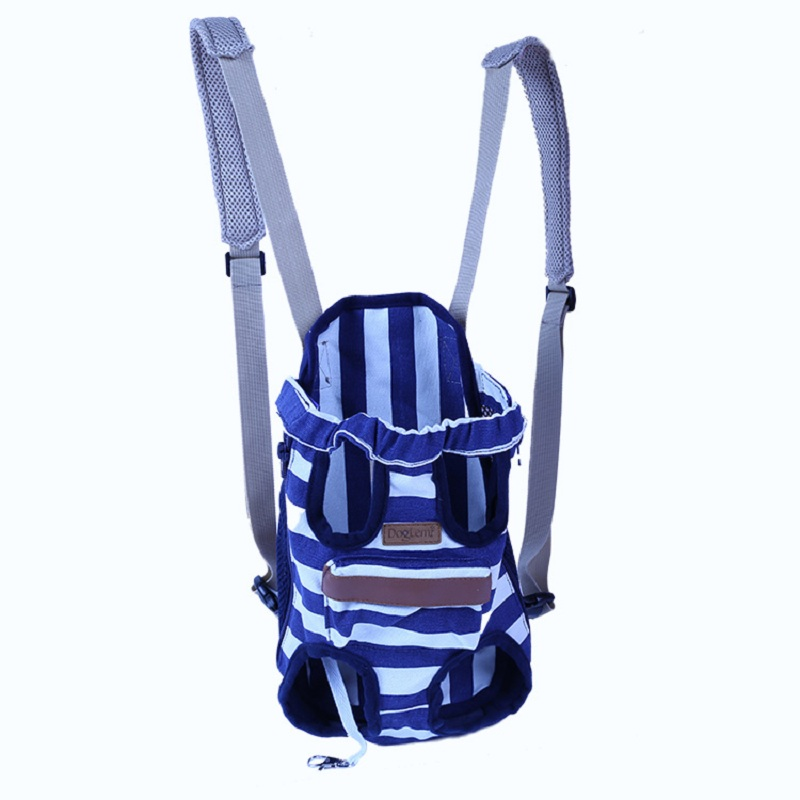 2017 HOT Sale Fashion Cat Dog Travel Front Carrier Bag Backpack Mesh Pet Carrier For Small Dog Stripe For Weight 2.5 kg-7 kg