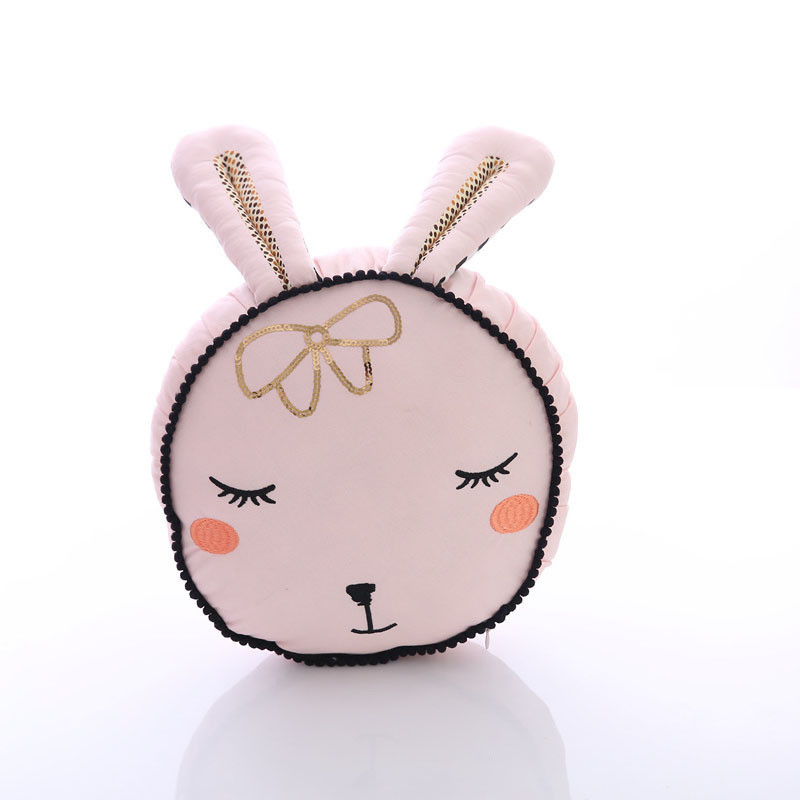Nordic Rabbit Toy Pink Bunny Cotton Pillow For Baby Kids Children Sleep Rabbit Toy Room Bed Decor Cushion Christmas Gift