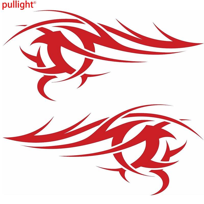 Autocollant Graphique en Vinyle Grand Rouge Flammes x2, étiquette de Voiture, amusant, Tribal