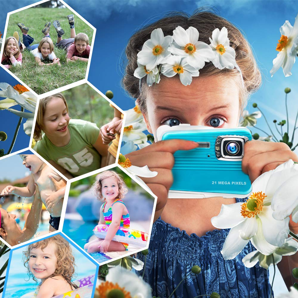 Купить с кэшбэком Kids Camera Digital Waterproof 3M Shockproof Sport Action Mini Camera For Swimming Children Birthday Gift Underwater Kids Camera