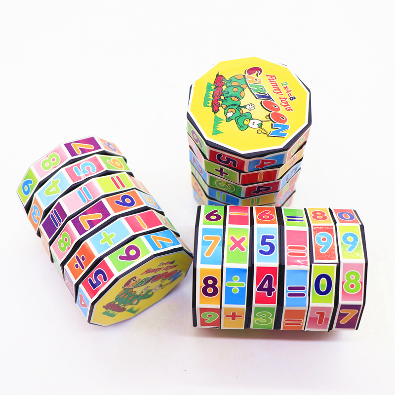 1 Pc Children Early Learing Cylindrical Cube Student Puzzle Toy Cube Mathematical Formula Training Toys Kids Educational Gifts
