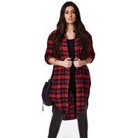 Shirt Women Fashion British Grid Long Sleeve Boyfriend Turn Down Collar Plus Size 6XL Blouse Blusas