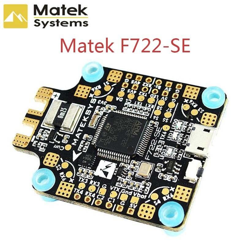 Nuevo Matek sistema F722 SE F7 Dual Gryo controlador de vuelo AIO OSD BEC Sensor de corriente para modelos RC Multicopter Drone parte accs-in Partes y accesorios from Juguetes y pasatiempos    1