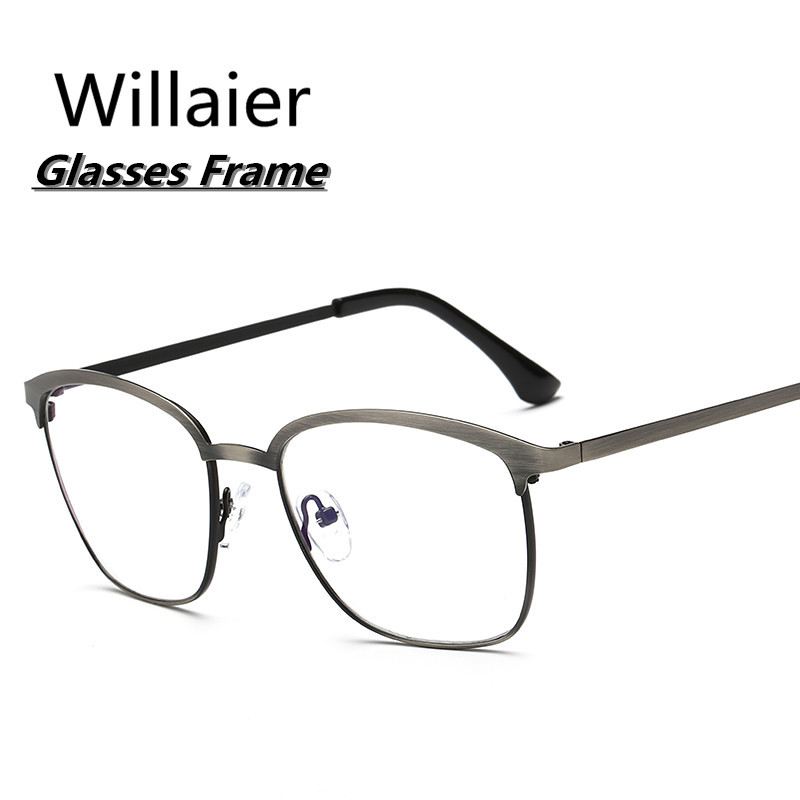glasses frame fashion retro vintage clear lens frames eyeglasses men women metal eyewear frame 2017