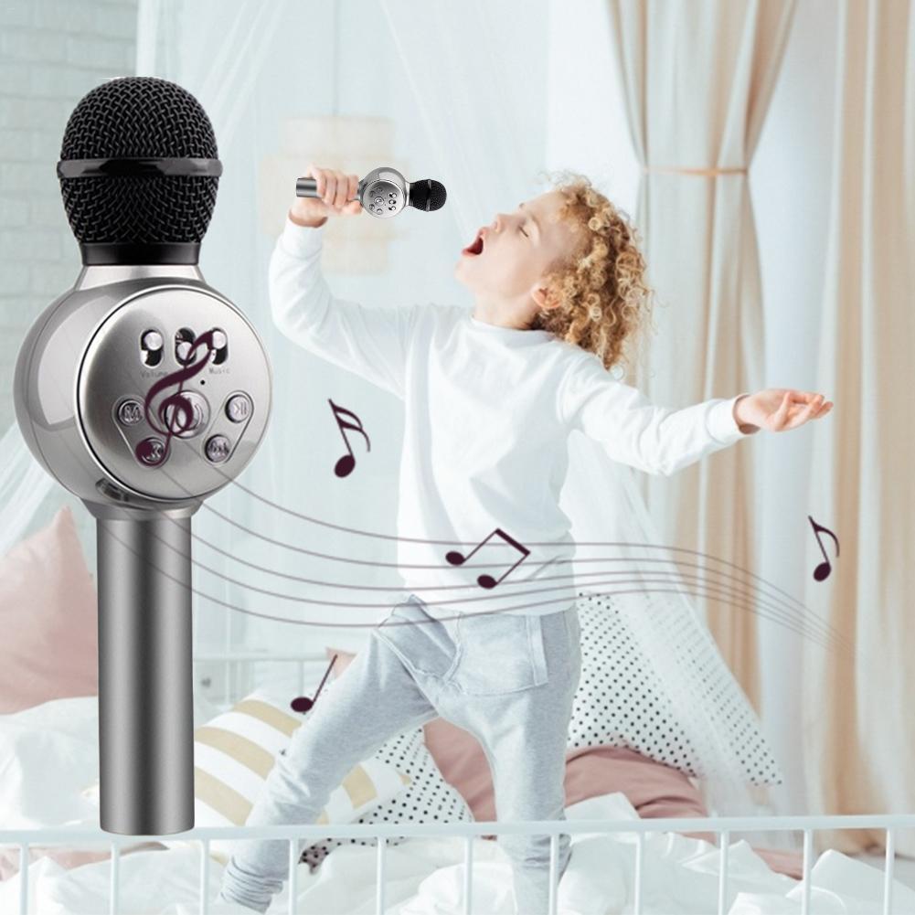 Lighting Toys Children Emulated Music Toys Funny Lighting Wireless Microphone Model Music Karaoke Luminous Toy