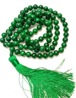 Natural green yu bracelet 108 Buddha bead bracelet male and female gifts/