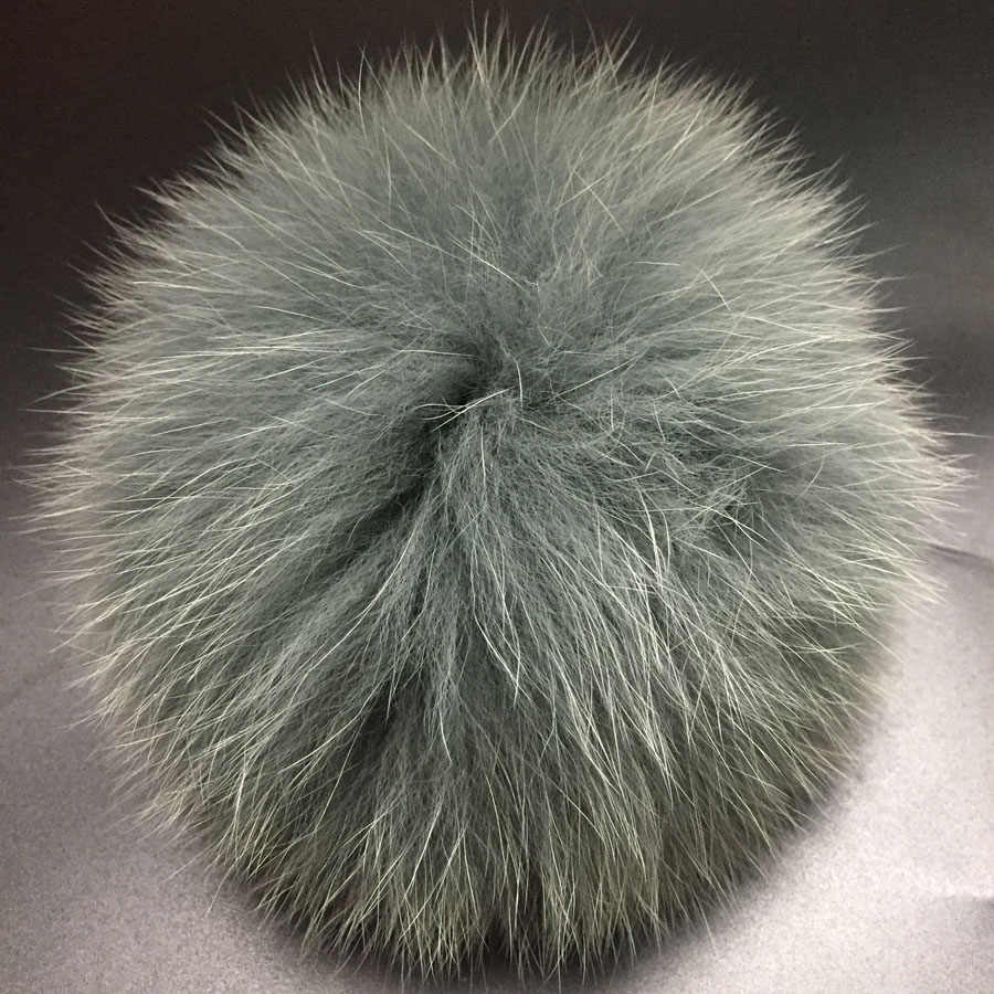 DIY 14-15cm big Fox Fur pompoms  Fur balls for knitted hat cap winter beanies and keychain and scarves real Fox fur pom poms