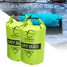 HITORHIKE 10L Professional Waterproof Dry Bag Pouch Camping Boating Kayaking Rafting Canoeing Swimming Bags Backpack Stuff