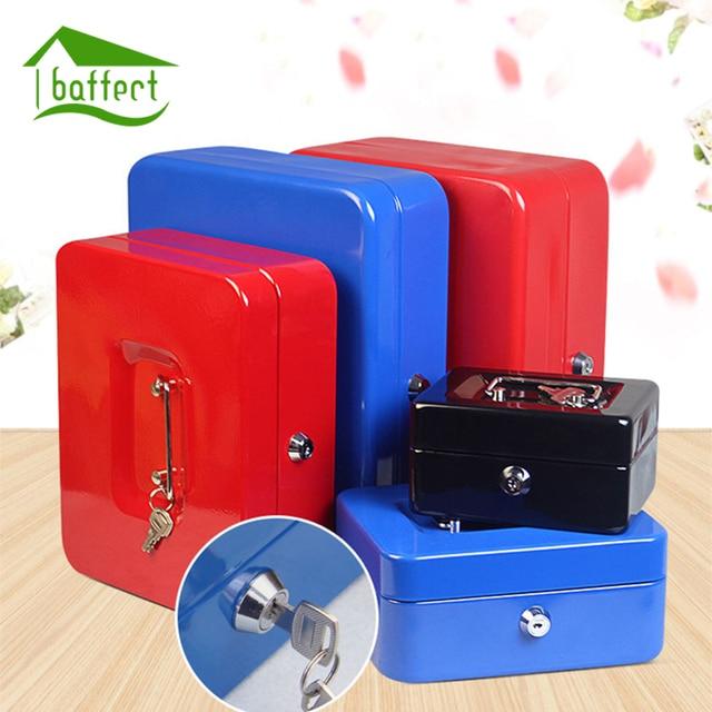 4Colors Home Metal Safe Storage Box Money Box Piggy Bank Key Box