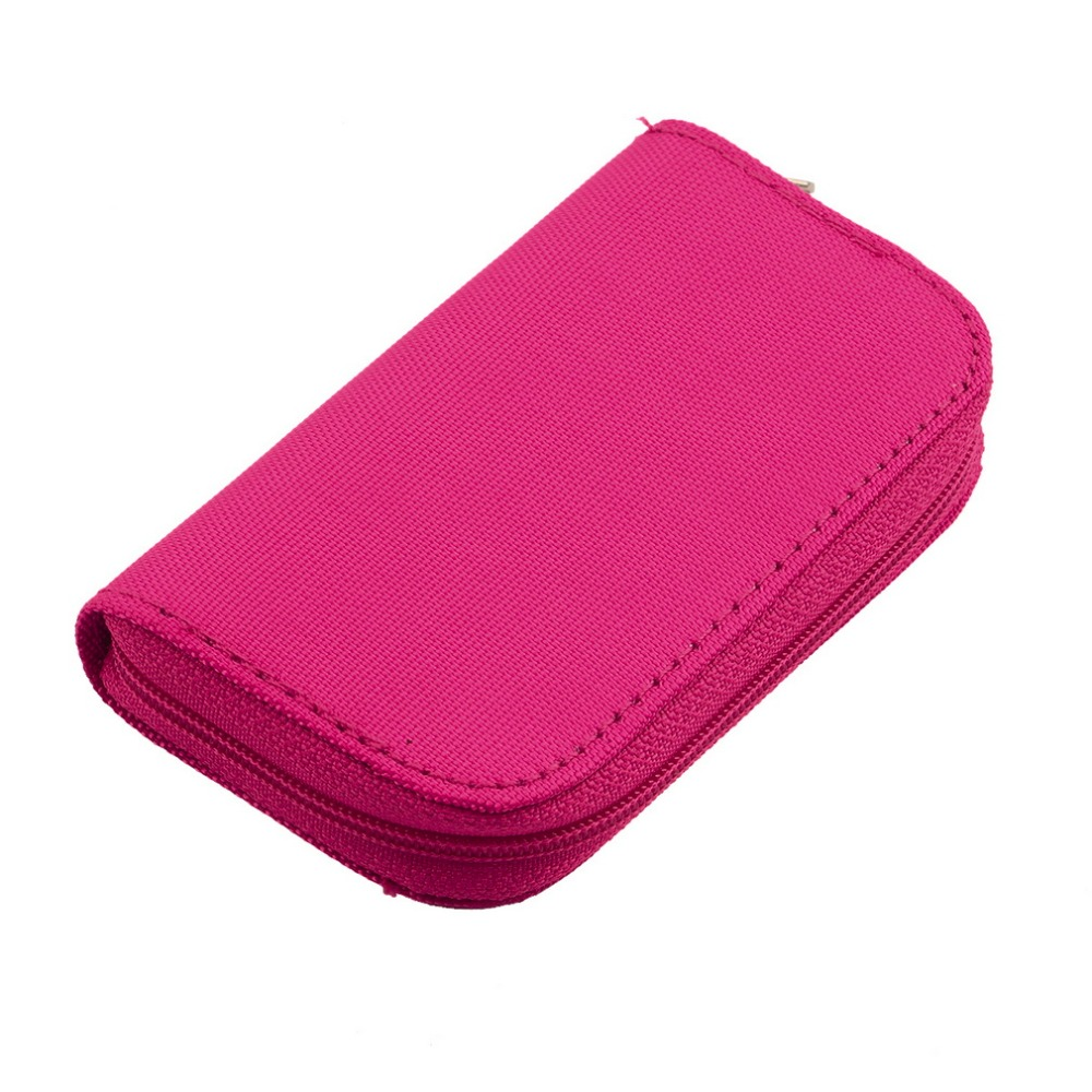 New Rose Red SD SDHC MMC CF Micro Memory Card Storage Carrying Pouch card Holder Case Wallet Wholesale