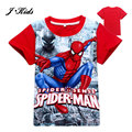 2016 New 2-9T summer boys clothing casual boys short Spider-Man t shirts for boys fashion character children tees child boys