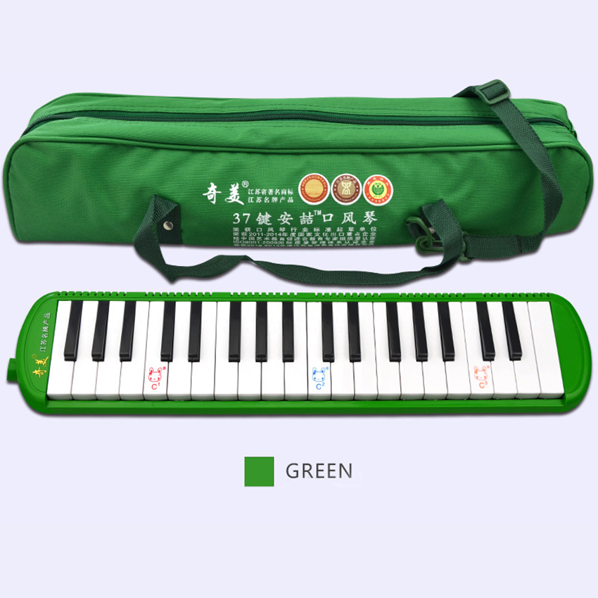 QIMEI Keyboard Melodica 37 Key Melodica Instrument Wind Musical Instruments Piano Style Harmonica Melodica Gift For Kids irin professional mini 17 key accordion educational keyboard musical instrument for both kids
