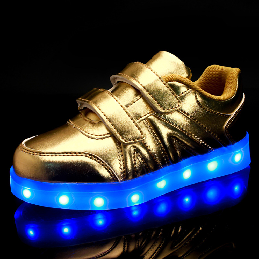 Boys Girls Luminous Sneakers Flashing Glowing Shoes Casual shoes Colorful USB Charging Children LED Shoes Kids Light shoes C282