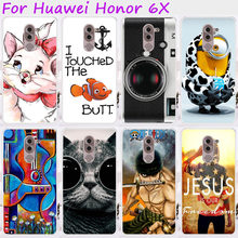 Ojeleye Plastic TPU Phone Cases For Huawei Honor 6x 2016 GR5 2017 BLL-L21 BLN-AL10 Honor Play 6X Mate 9 Lite Cover Housing(China)