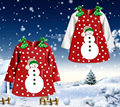 Christmas Baby Girls Kids Snowman Long Sleeve Bowknot Dot Tops Party Dress 2~7Y