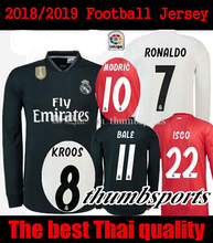 bbc22036525 2019 Realed Madrided Soccer jersey Adult Long sleeve 18 19 Home Away 3RD  MARIANO BALE BENZEMA