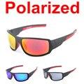 2015 Nuevo Macho Estilo Popular Película de Revestimiento gafas de Sol Polarizadas de Los Hombres Diseñador de la Marca De Deportes Al Aire Libre UV 400 Gafas de Sol