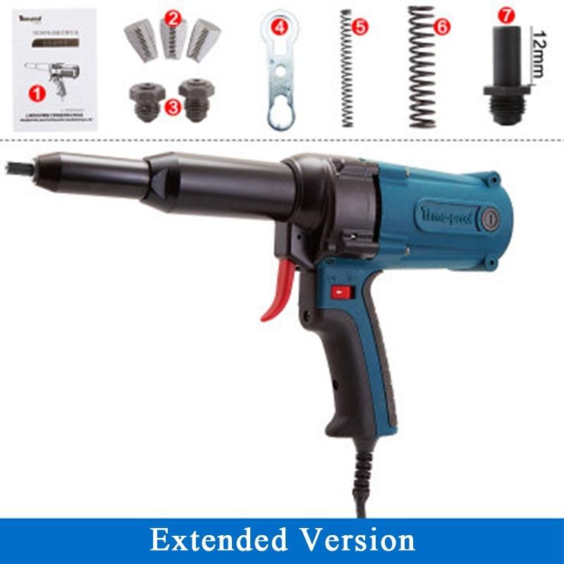 TAC500 outils électriques pistolet à rivets électrique de qualité industrielle pistolet à rivets électrique Rivet pistolet Rivet noyau de Machine et longue bouche