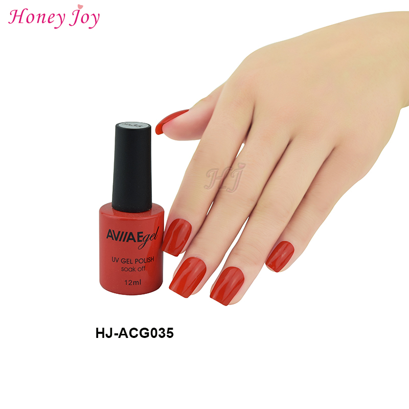 AVII Dark Orange Red Color Gel Nail Polish Long Lasting
