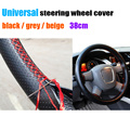 Universal Car Steering Cover 38cm Leather Steering-Wheel Cover