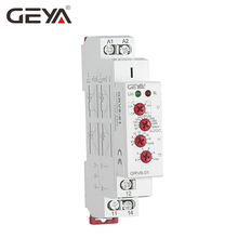 Free Shipping GEYA GRV8-01 Single Phase Voltage Relay Adjustable Over or Under Voltage Protection Monitor Relay with LED display geya grv8 08 overvoltage undervoltage relay phase sequence asymmetry control relay