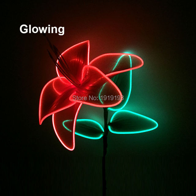 Standard Packing Blinking LED Rope Lily Flower Flexible EL wire Neon ...