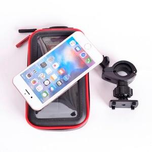 Image 5 - שדרוג אופנוע עמיד למים תיק בעל טלפון אופניים אטימים לגשם תמיכת כידון אופני Moto הר מחזיק טלפון GPS כרטיס חריצים
