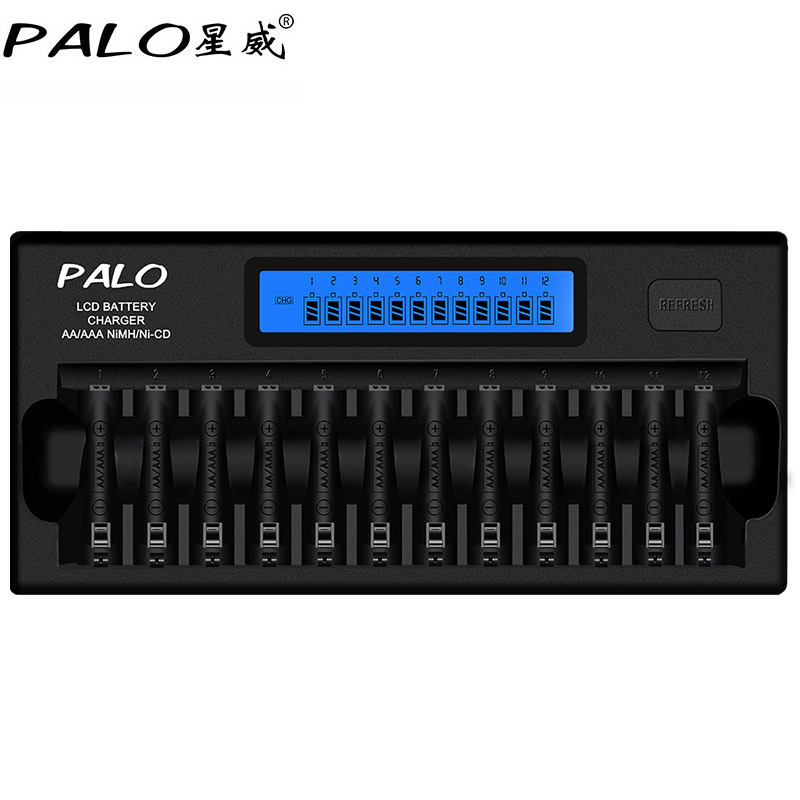 все цены на Fast Smart 12 Slots NIMH NICD AA / AAA Smart LCD Battery Charger for 1~12 pcs AA or AAA NiMH NICD rechargeable batteries