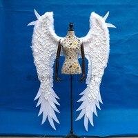 Взрослых Costumized Крылья Ангела из перьев Фото Опора сценическое шоу костюм на Хэллоуин свадебные принадлежности для детской вечеринки подар