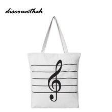 Ноты сумка новый Для женщин Обувь для девочек холсте музыкальные хозяйственная сумка Примечания Мужская тотализаторов сумки большой высокое качество